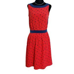 TOMMY HILFIGER Red & Blue Sailboat Print Dress 2